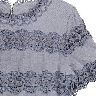 lace punching dress skyblue